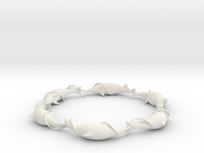 Dolphin Ring in White Strong & Flexible