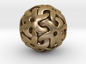 Starball Pendant in Polished Gold Steel