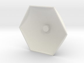 Big Hex Base in White Natural Versatile Plastic