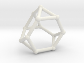 Truncated tetrahedron in White Natural Versatile Plastic