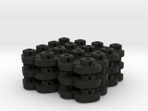 Clover Connector (12-Pack) in Black Strong & Flexible
