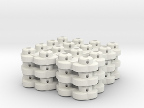 Clover Connector (12-Pack) in White Natural Versatile Plastic