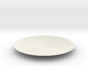 Saucer in White Natural Versatile Plastic