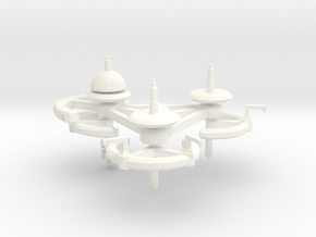 5 Repair and Resupply Space Station in White Processed Versatile Plastic
