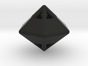 d12 die-pyramid blank in Black Strong & Flexible