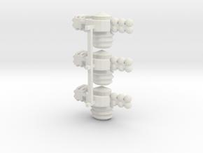 8 Satellite Type 3 x3 in White Strong & Flexible