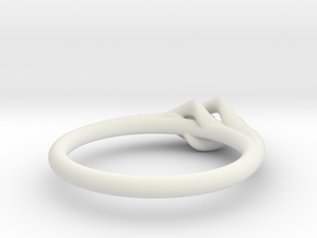 Twist Ring w/ Ball in White Natural Versatile Plastic