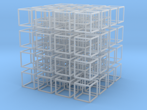 Interlocked Cubes in Smooth Fine Detail Plastic