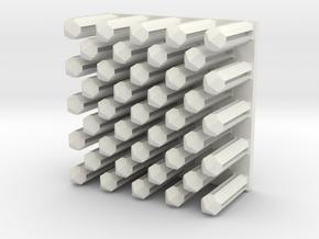 Pins in White Natural Versatile Plastic