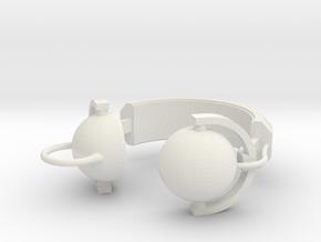 Headphone Pendant in White Natural Versatile Plastic