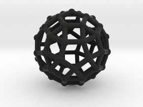 Rhombicosidodecahedron in Black Strong & Flexible