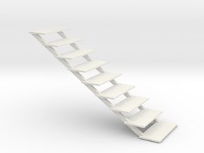 Steps for wargames figures in White Natural Versatile Plastic