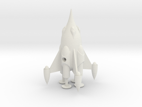"R-Rocket ""Mars""-Class Small in White Natural Versatile Plastic"