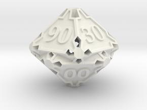 Premier Decader d10 in White Natural Versatile Plastic