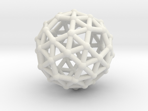 Snub dodecahedron (chiral) in White Natural Versatile Plastic