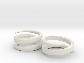 (Fe)male Ring 18mm in White Natural Versatile Plastic