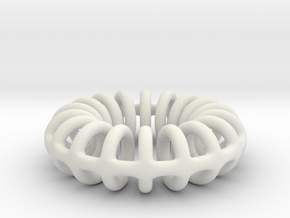 Ring-o-rings (3mm) in White Natural Versatile Plastic
