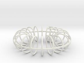 Ring-o-rings (1mm) in White Natural Versatile Plastic