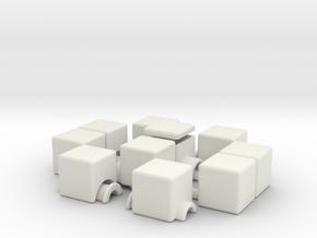 1x2x5 v2 (hollow) in White Natural Versatile Plastic