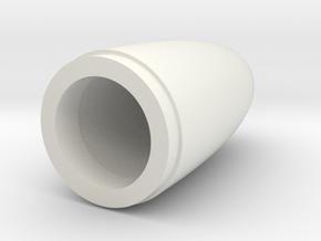 SGE Tube Nosecone in White Natural Versatile Plastic