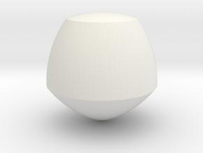 Reuleaux Pentagon Spheroform in White Natural Versatile Plastic