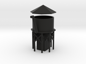 Water Tower - Z scale in Black Strong & Flexible