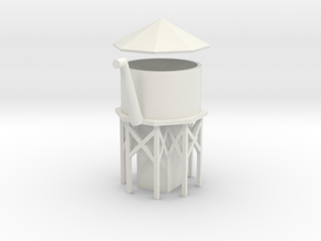 Water Tower - Z scale in White Strong & Flexible