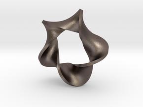 pentagonal moebius surface in Polished Bronzed Silver Steel