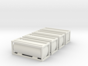 TankTainer Set of 4 - Z scale in White Strong & Flexible