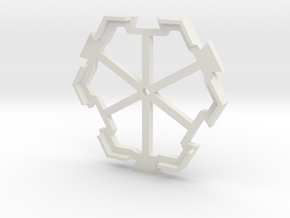 board game hexagon holder in White Natural Versatile Plastic