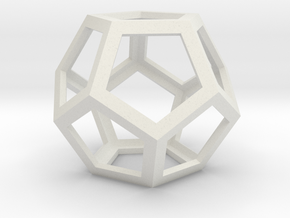 Dodecahedron in White Natural Versatile Plastic