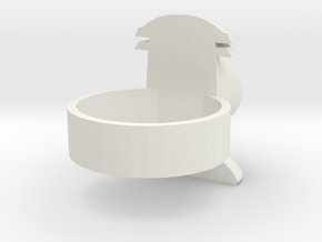 Revised design-Alan Scott GL ring in White Natural Versatile Plastic