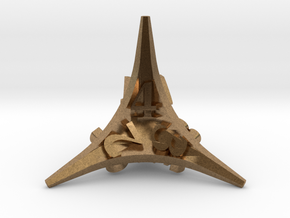 Caltrop Die4 in Natural Brass