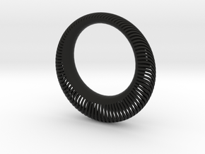 Armadillo Wave Bangle in Black Strong & Flexible