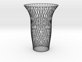 Vase double swirl in Black Strong & Flexible