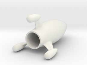 Moon rocket in White Natural Versatile Plastic