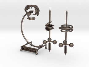 Ultimate Desk Toy in Polished Bronzed Silver Steel