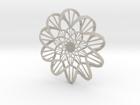 """""""DNA"""" Flower Wall Ornament  in Natural Sandstone"""
