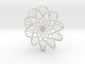 """DNA"" Flower Wall Ornament  in White Natural Versatile Plastic"