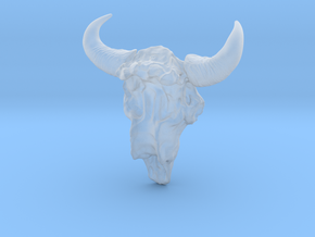 Bison Skull 5.2 cm in Smooth Fine Detail Plastic