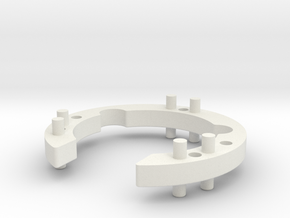 Stack Adapter in White Natural Versatile Plastic