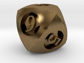 Overstuffed d8 in Natural Bronze