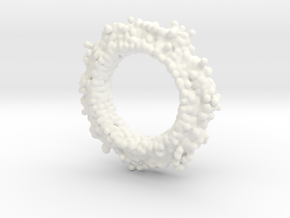Anticlast for brooch in White Processed Versatile Plastic