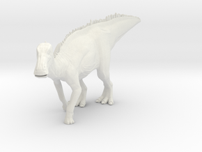 Edmontosaurus Dinosaur Small SOLID in White Natural Versatile Plastic