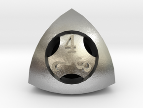 Overstuffed d4 in Natural Silver