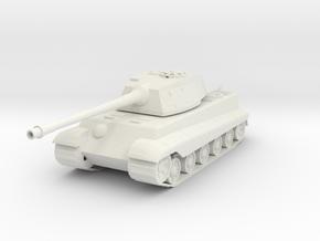 King Tiger Tank in White Natural Versatile Plastic