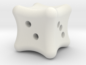 Dice a gogo in White Natural Versatile Plastic