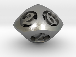 Overstuffed d10 in Natural Silver