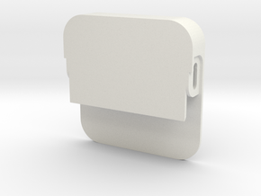 Business Card Holder Front in White Natural Versatile Plastic