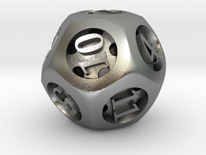 Overstuffed d12 in Natural Silver